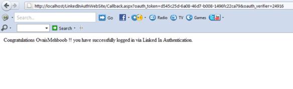 LinkedIn Authentication in ASP Net | Ovais TechBlogs