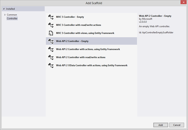 OData Using ASP.NET Web API 2