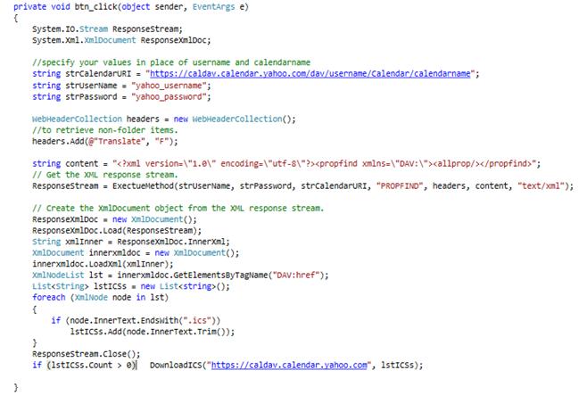Sync Calendar Events using CALDAV in C# | Ovais TechBlogs