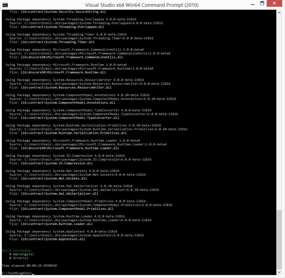 Creating ASP.NET 5 Web Application using Yeoman Generator (6/6)